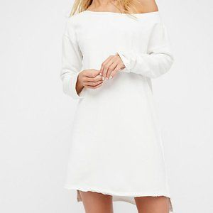 Free People Stay Here Tunic Dress New White Summer